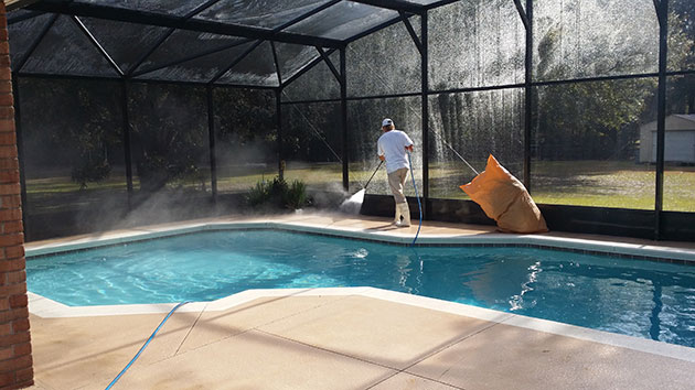 New smyrna beach gutter cleaning pressure clean usa for Pressure clean pools